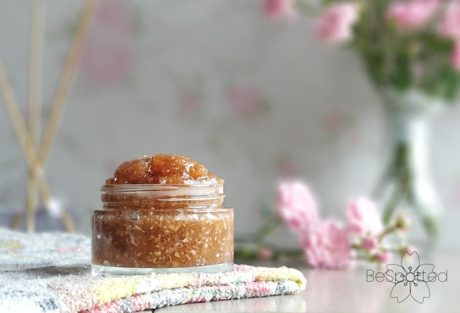 A jar of all-natural face exfoliator