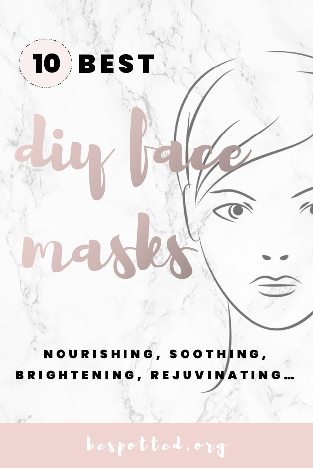 DIY Face Masks - Pinterest friendly image
