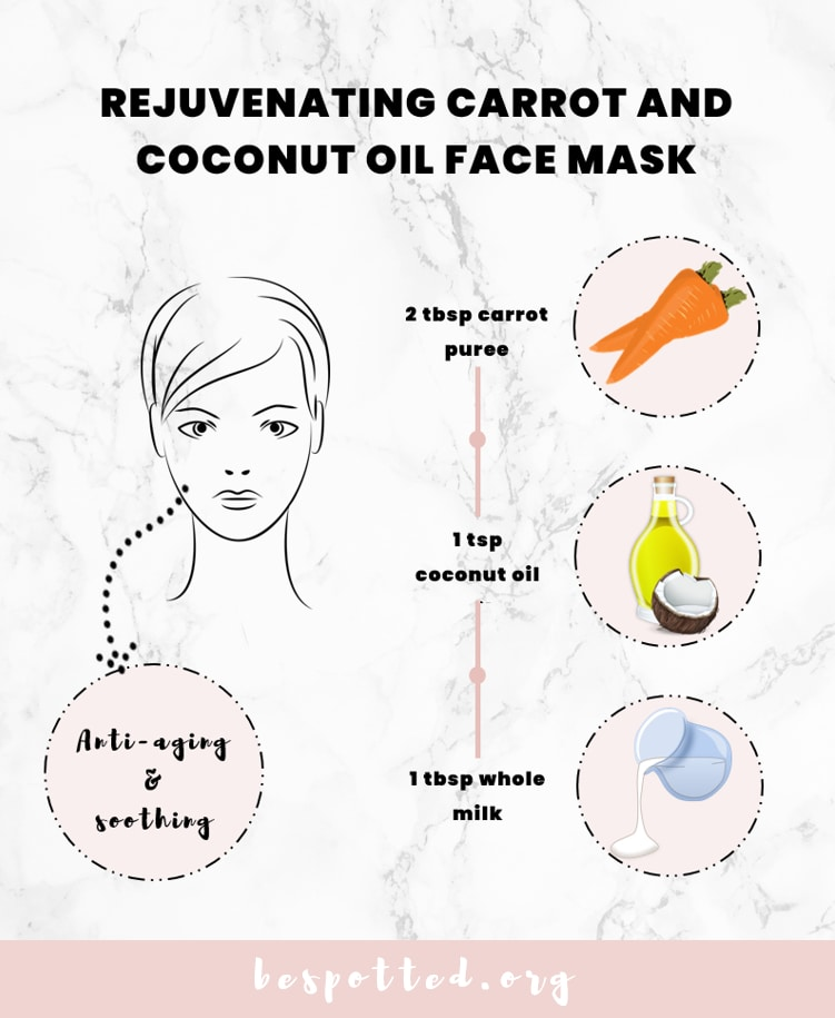 How to make Rejuvenating Carrot and Coconut Oil Face Mask
