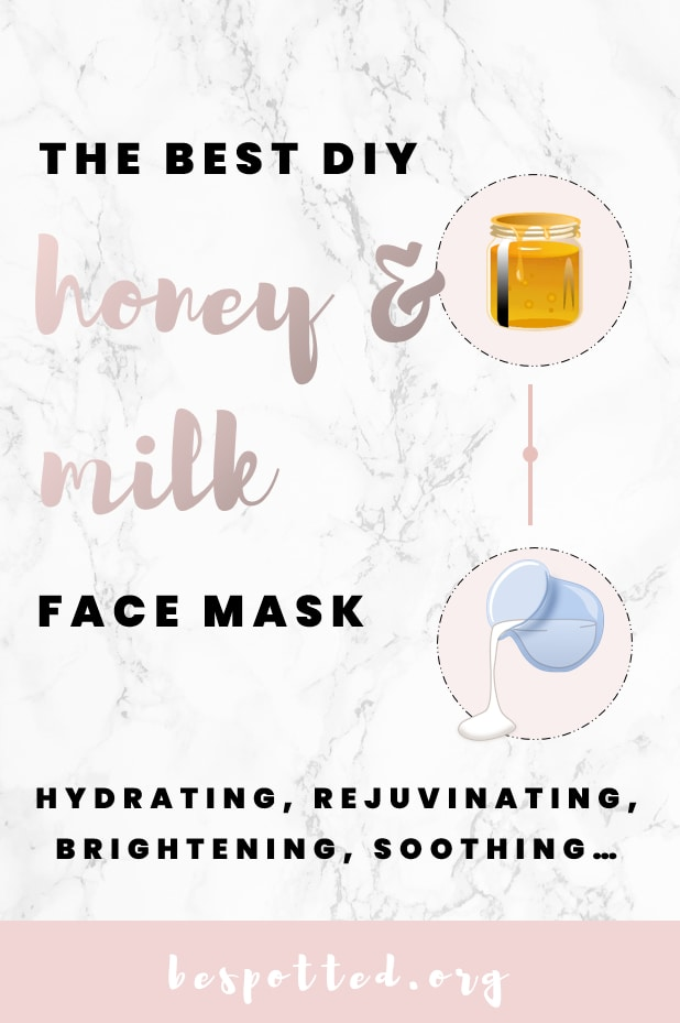 A Pinterest friendly image for Honey and Milk Face Mask