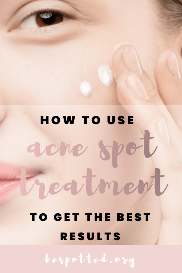 A Pinterest friendly image for a full guide on what is a spot treatment and how to apply it properly