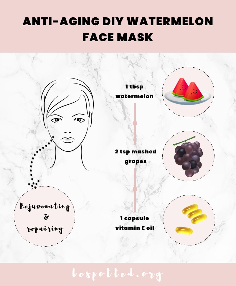 How to use benefits of watermelon for skin that is mature and dry