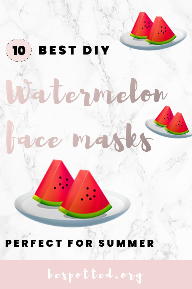 Benefits of watermelon for skin - a Pinterest friendly image
