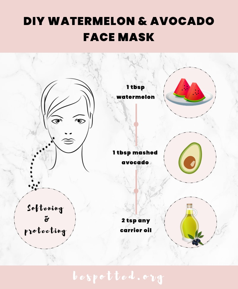 How to make Diy Watermelon & Avocado Face Mask