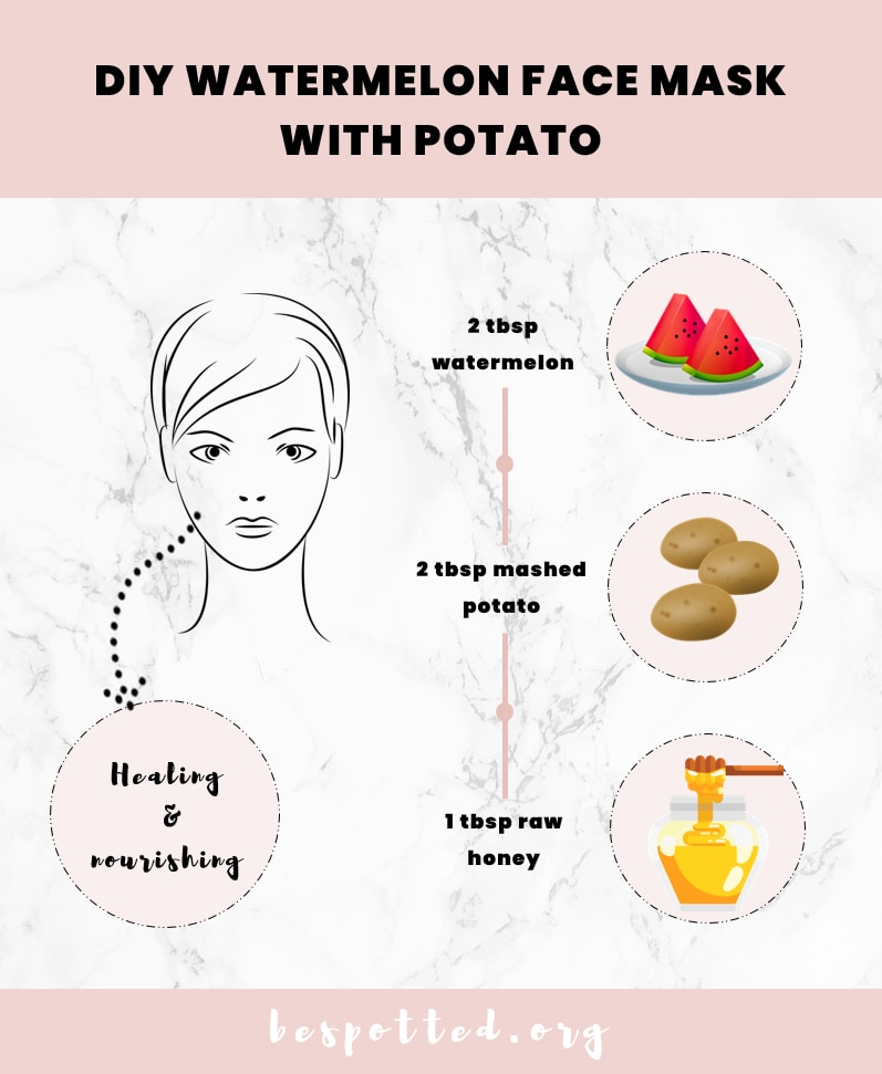 How to make a DIY face mask with watermelon and potato