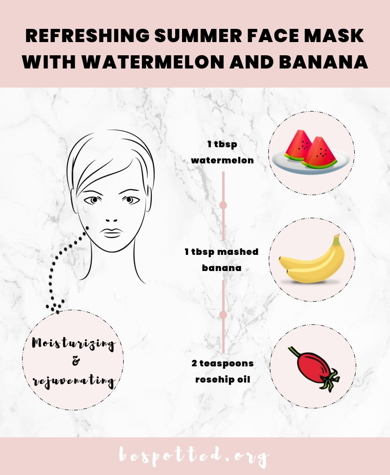 A recipe for Face Mask with Watermelon and Banana