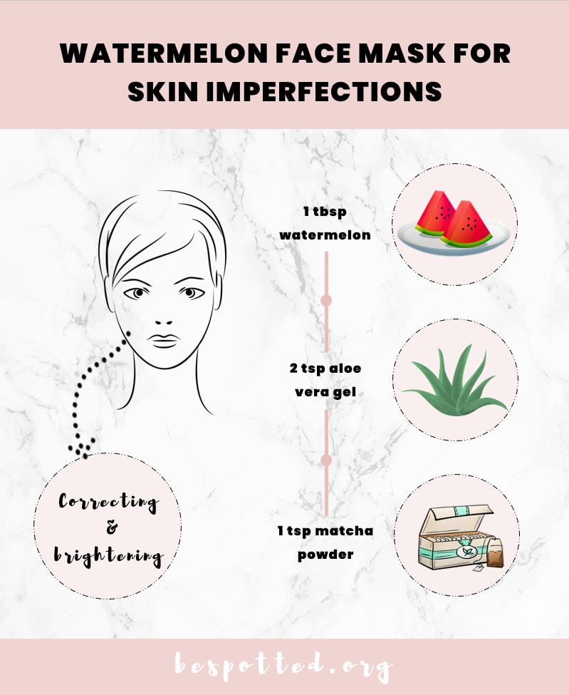 How to make a face mask for skin imperfections with watermelon