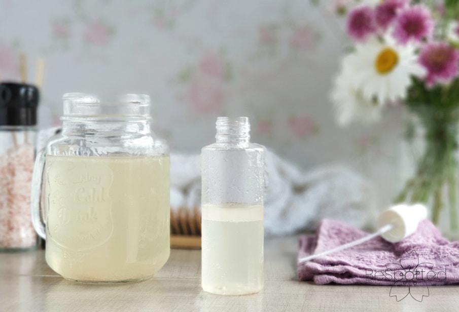 Step 4 - Transfer the DIY sea salt hair spray to a clean spray bottle
