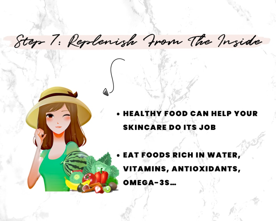 Step 7 - Best food to eat after sun exposure