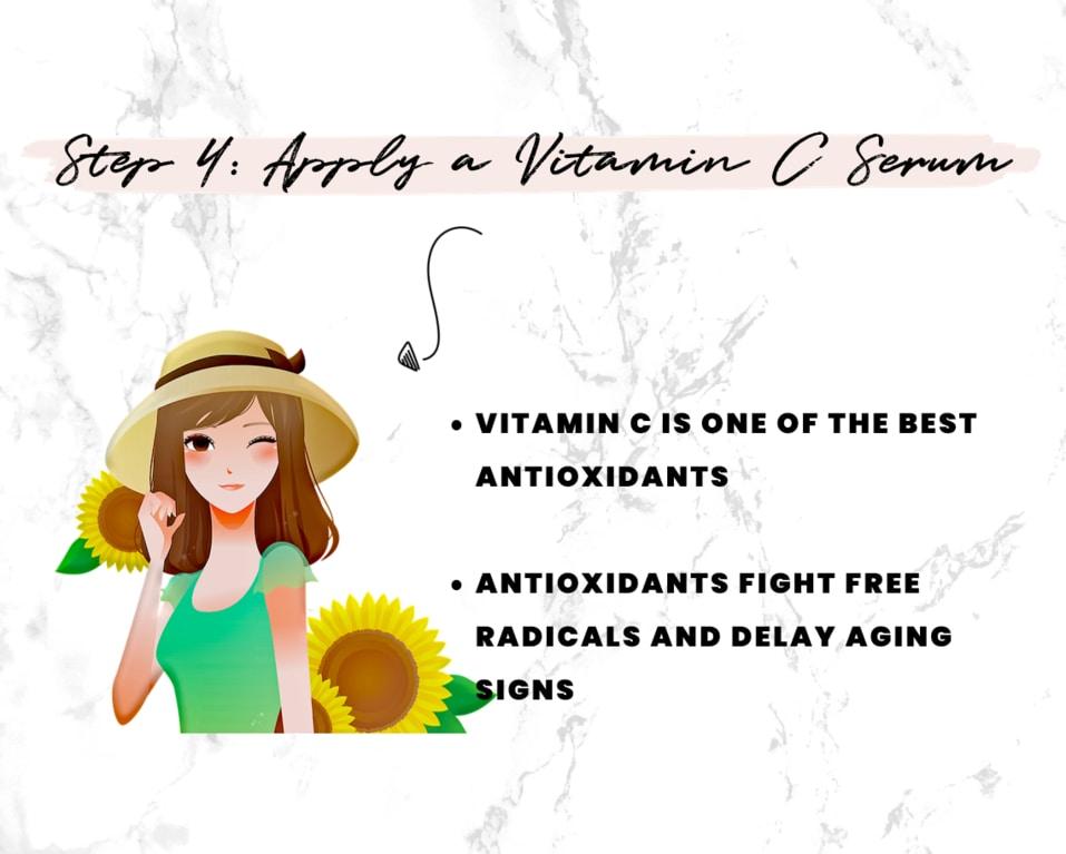After Sun Skin Care Step 4 - Apply a vitamin C serum