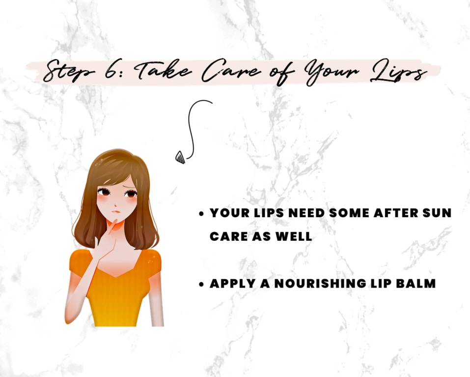 After Sun Skin Care Step 6 - Take care of your lips