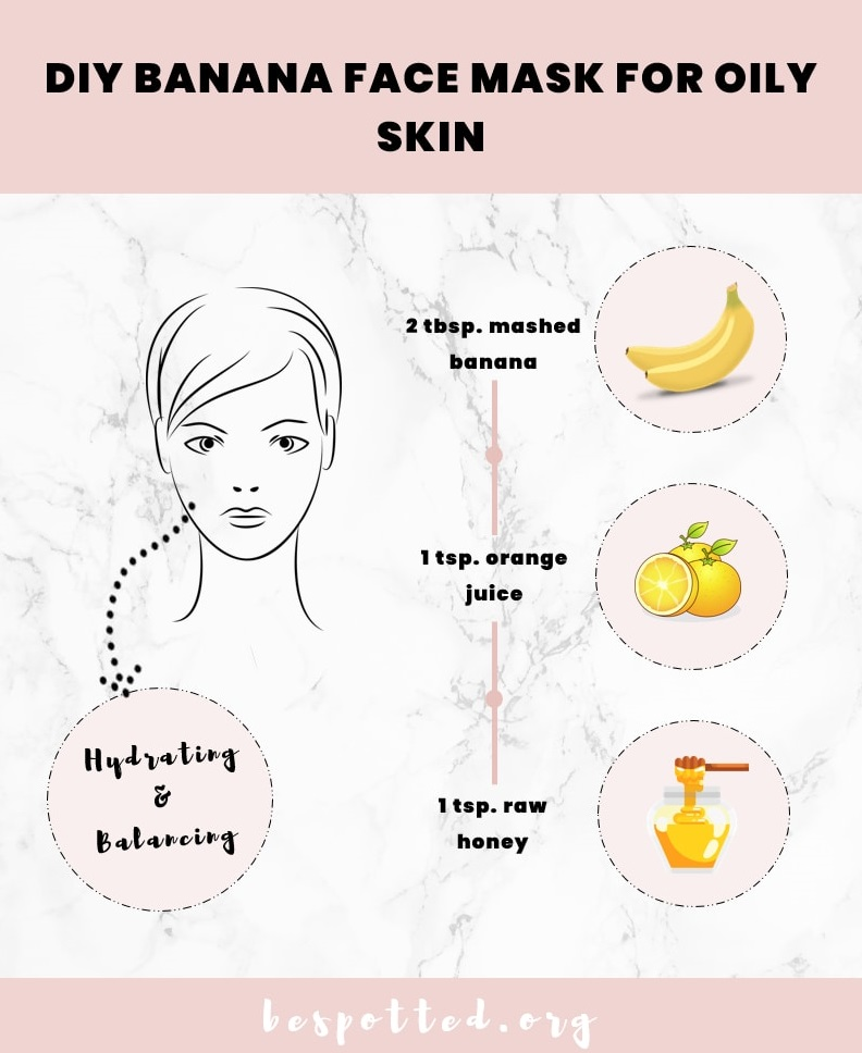 All the ingredients for DIY Banana Face Mask for Oily Skin